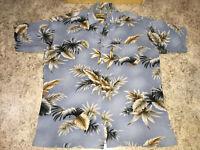 VINTAGE RARE Caribbean Blues Hawaiian Safari Vtg Shirt Size L  MSRP $79.50 VHTF
