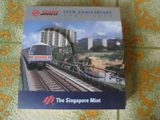 1997 Singapore SMRT 10th Anniversary Silver Proof Medallion