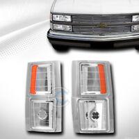 Fit 94-00 Chevy C10 C/K Truck/SUV Chrome Amber Turn Signal Parking Corner Lights