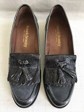Russell & Bromley CHESTER Gray Patent Leather Tassel Loafers Flats Shoes 38/5