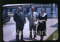 1950s  red border Kodachrome Photo slide Men and lady Baash-Ross Tool Company
