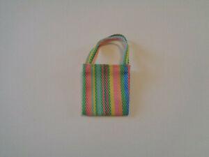 Colorful Striped Cloth Shopping Bag Skipper Creatable World Barbie NEW