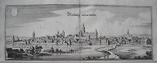 Neunburg vorm Walde   Bayern alter  Merian Kupferstich der Erstausgabe 1644