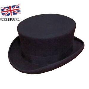 BLACK DRESSAGE RIDING TOP HAT 100% WOOL FELT MENS LADIES NEW BOXED UK SELLER