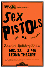 Sex Pistols *Poster* Live Punk Concert - 1st U.S. Show Johnny Rotten Sid Vicious