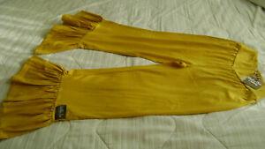 "NWT Matilda Jane Womens Dream Chasers Big Ruffled Pants 25"" waist and 25"" inseam"