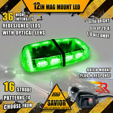 36 LED Light Bar Top Beacon Magnetic Flash Hazard Roof Emergency Strobe GREEN A