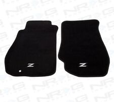 NRG FMR-350 Front Carpet Floor Mats Set for Nissan 350Z w/ Silver Z Logo 03-09