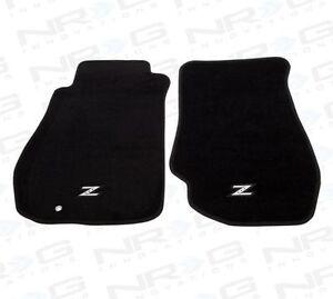 NRG FMR-350 Front Carpet Floor Mats Set for Nissan 350Z w/ Silver Z Logo 03-09