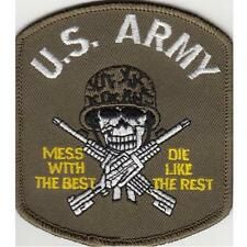 NEW TOP GUN US NAVY MILITARY ARMY WEAPONS PATCH IRON ON MESS WITH THE BEST