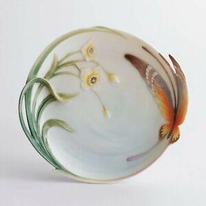Franz Porcelain Papillon Butterfly Dessert Plate FZ00229