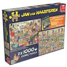 Jumbo 19024 Jan van Haasteren Happy Holidays 2x1000 Teile Puzzle + Malbuch ...