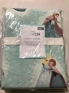 Pottery Barn Kids Disney Frozen Organic Duvet Full/Queen Aqua