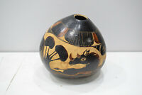 Gourd African Etched Gourd Tanzania Handmade Drinking Gourd
