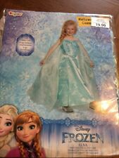 Disney Frozen Elsa Costume Deluxe Official By Disguise Girls Kids Size M 7-8