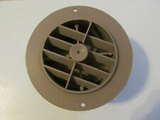 "4"" BEIGE Round Rotaire Grille Damper Heat AC Outlet Register Vent 2"" Reducer"
