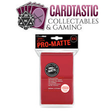 Ultra Pro Pro-Matte Deck Protector Sleeves 100ct Red Standard