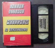 VHS FILM Ita Enduro Azzurro MOTOSHOW IN FUORISTRADA videobox ex nolo no dvd(VH63