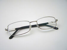 Silver Color Frame,  Real Glass Lens Reading Glasses 1 Pair.  +2.00.  (30% OFF)