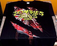 """Zombies they love you for what is on the inside"" Adult T-Shirt Medium"