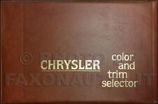 1979 Chrysler Color Upholstery Dealer Album LeBaron Cordoba Newport New Yorker