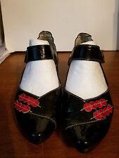 Un Tour En Ville Mary Jane Pumps Black Lacquer Leather France Shoes Size 37