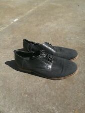 H by Hudson casual derby shoes size 41 8 black grey