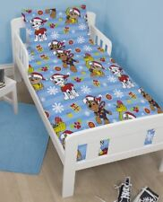 Nickelodeon Paw Patrol Toddler Cot Bed Duvet Set Cover & 2x Fitted Sheet
