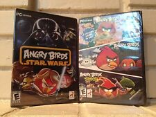 lot of 4 angry birds action adventure computer games on 2 cd-roms --- new