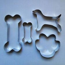 2 Size Dog Bone Cookie Cutter Paw Fondant Baking Biscuit Stainless Steel Set