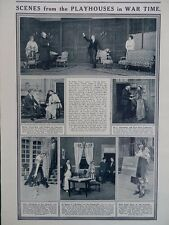 1915 PLAYHOUSES IN WARTIME THE GARRICK VAUDEVILLE; MRS GASKELL BRONTE WW1 WWI