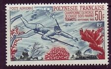 French Polynesia Sc C37 NH DIVER - Underwater fishing - 1965