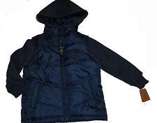 Nueva Chaqueta Acolchada Timberland Jeans De Azul/Azul Marino 3T/3 años Auténtico