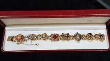 14k Antique Estate Victorian slide charm bracelet EXCEPTIONAL