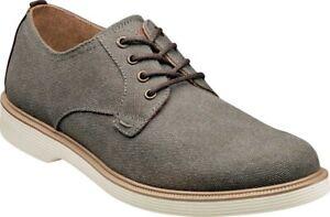 Florsheim Supacush Canvas Plain Toe Oxford (Men's Shoes) in Gray Canvas - NEW