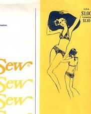 70s Vintage Stretch & Sew Pattern Women's HALTER BIKINI 1390 CUP SZ A to D UNCUT