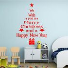 Merry Christmas Happy New Year Wall Stickers Vinyl Decal Window Decoration
