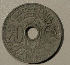 BEL ETAT 20 CENTIMES ZINC 1945