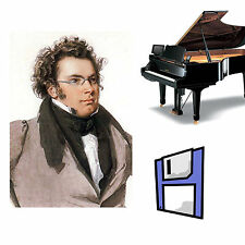 Schubert Classical Solo Piano Collection for Pianodisc PDS128 on 2 Floppy Disks.