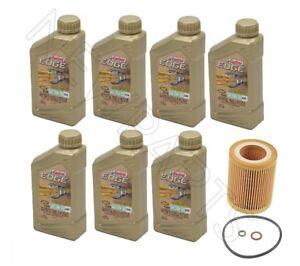 Castrol Edge Synthetic 5W-30 Motor Oil 7 Quart Mann Filter Kit HU816X