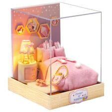 DIY Doll House Bed Room Small Home Dollhouse Toy Miniature Kids Christmas Gift