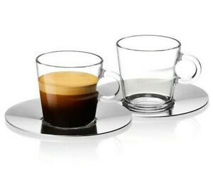 ORIGINAL Nespresso 2 Lungo Cups and Saucers 150ml - View Collection