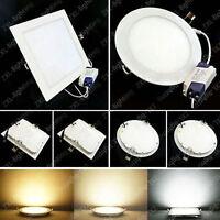 9/12/15/18W LED Plafonnier Encastrable Panneau Lampe Chambre Salon Couloir 220V