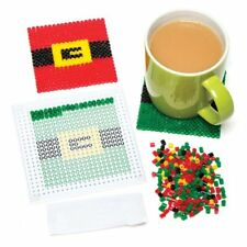 Vendita! Babbo Natale Perline Coaster Kit per i bambini a fare Bambini Natale Craft (6 PZ) Età 5+