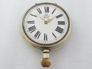 OMEGA 8 Days Antique 1908-1912 Swiss Original Beautiful HUGE Watch SERVICED