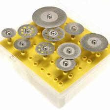 10 Pcs Diamond Cutting Disc Saw Blade Grinding Wheel Set Rotary Tool Circular