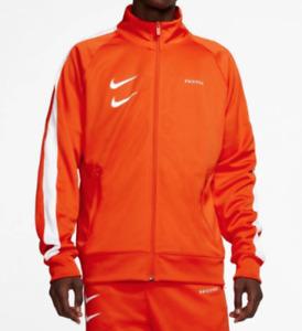 Nike Jacket Mens Small or Medium New Orange Sportswear Swoosh Poly Knit Training