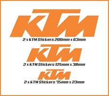 KTM Moto Stickers x 6 Motorbike Decals Outdoor Grade Vinyl choice of 10 Colors