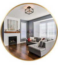 30 in PexFix Gold Round Wall Mounted Mirror- Us-Yj30Mt001-Gl