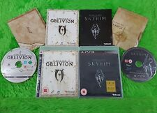 ps3 ELDER SCROLLS IV 4 Oblivion + V 5 Skyrim + Maps RPG PAL English REGION FREE